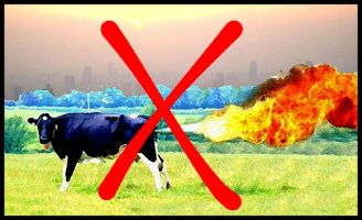 Cow Polluting Methane Illustration