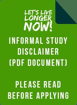 Let's Live Longer Now Informal Study Disclaimer (PDF)